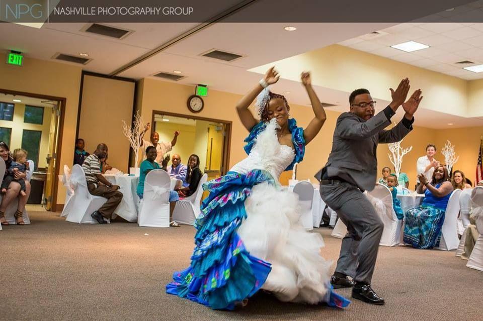 African Wedding Dance American Groom Bride
