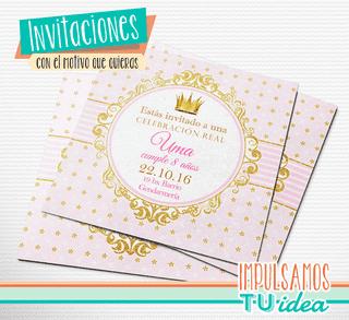 Cumple Princesa Tarjetita Invitación Princesa Para