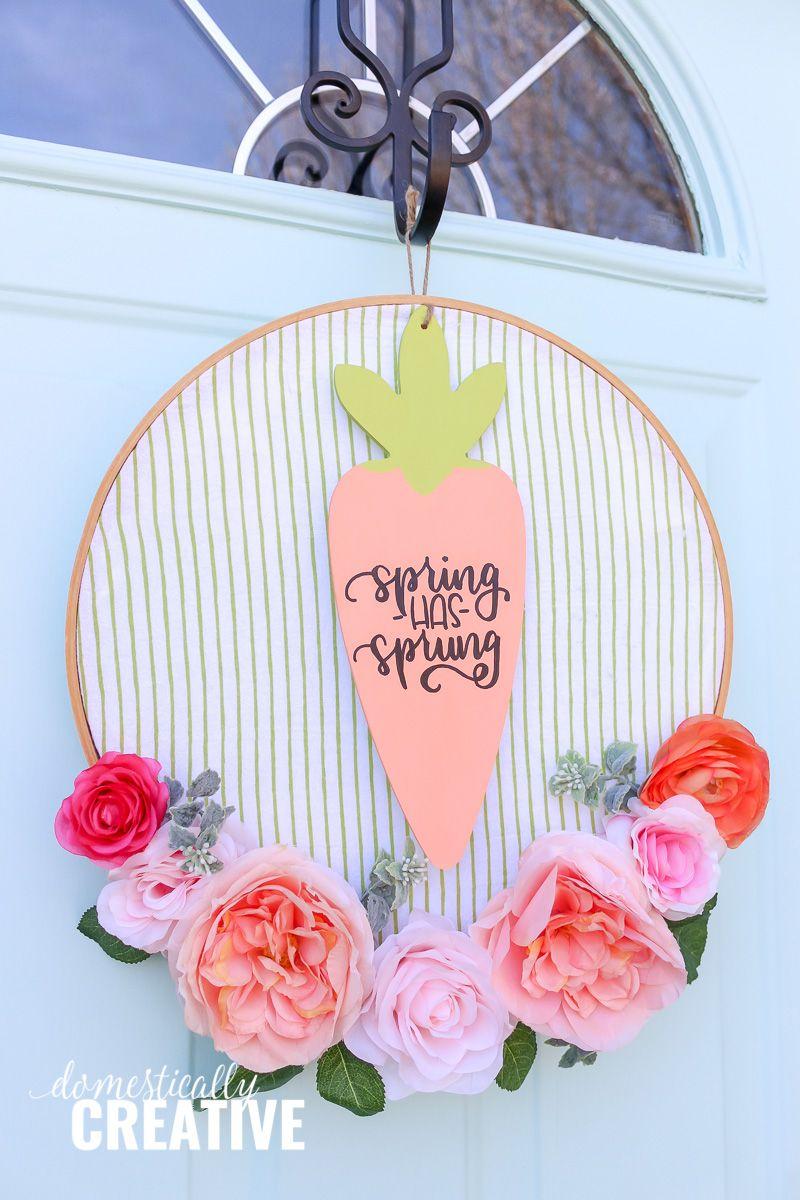 Photo of DIY Floral Hoop Wreath