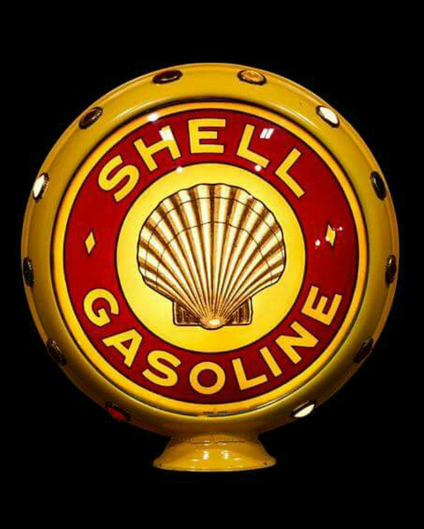 SHELL Lube Style Gas Pump Globes Gasoline Selection Glass Petrol Pump Globes