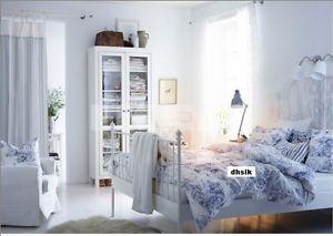 IKEA EMMIE LAND Duvet COVER Pillowcases Set BLUE White TOILE Th - Blue and white toile duvet cover