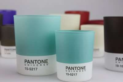 Pantone Universe Candles Infuse Favorite Shades with Light #Candleholder #Candles trendhunter.com