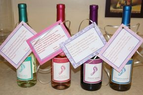 Baby Shower Hostess Gift Barefoot Wine With A Cute Little Saying