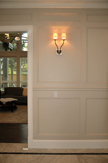 Chair Rails And Panel Moulding Add Interest To Wall Treatments Via Flickr
