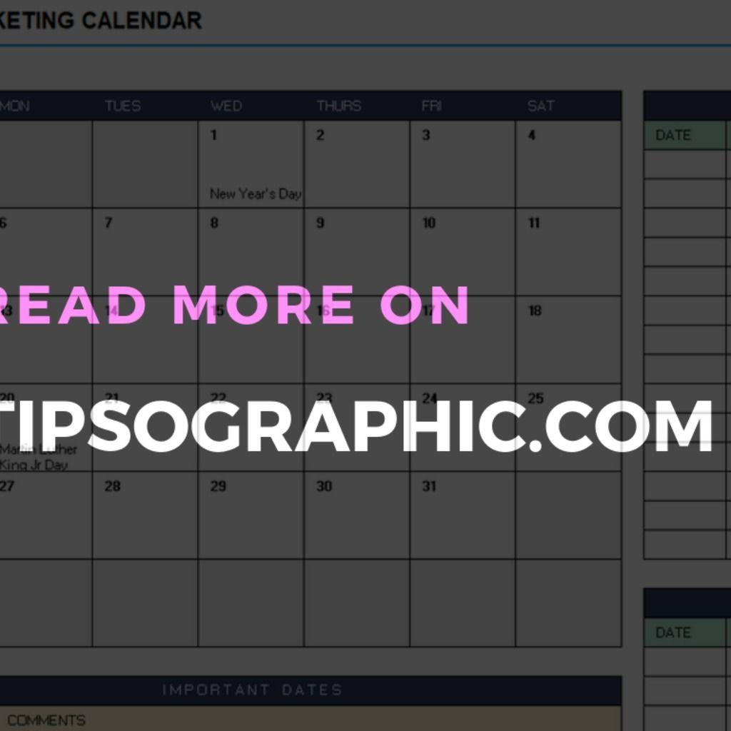 25 Golden Marketing Calendar Templates For Excel And Google