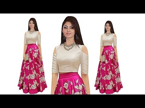 c0a6678011c5ce Kids crop top lehenge design ideas traditional outfits ideas for girls Indo  western outfits for girl - YouTube
