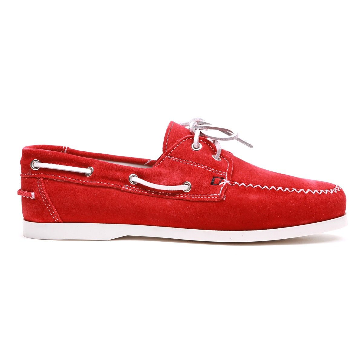 Red Suede Del Toro Boat Shoe with Baseball Stitch | Blurred Lines ...
