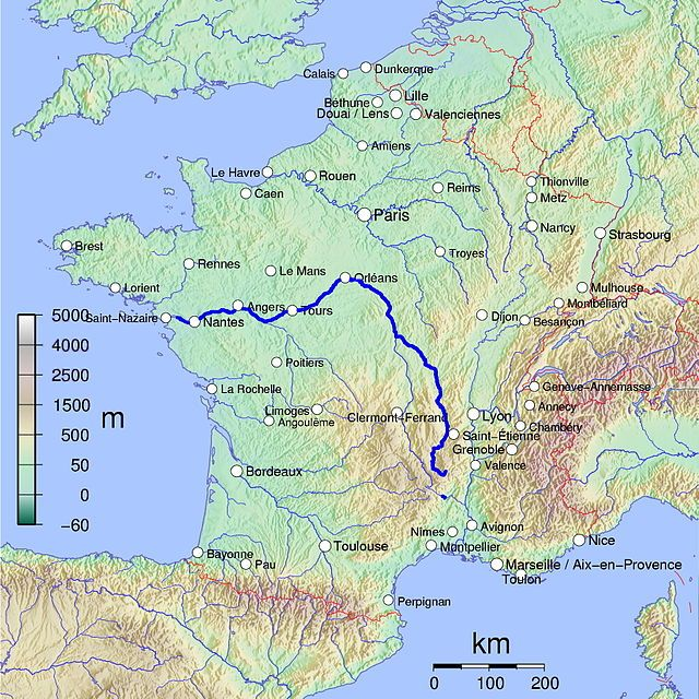 The Loire Longest River In France Gives Its Name To Six - 50 longest rivers in the world