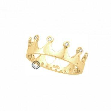 Μοντέρνο δαχτυλίδι κορώνα - στέμμα χρυσό Κ9 που φοριέται μόνο του ή  θηλυκώνει πολύ ωραία με 6b80aa5d4b2