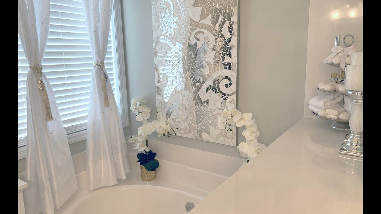 BATHROOM TUB/SHOWER AREA DECORATING IDEAS DECORATE WITH ME ...
