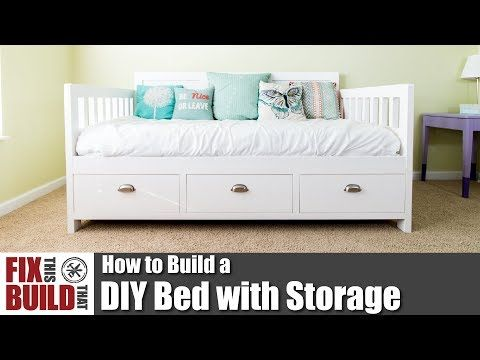 DIY Bed with Storage Drawers Woodworking Projects Video