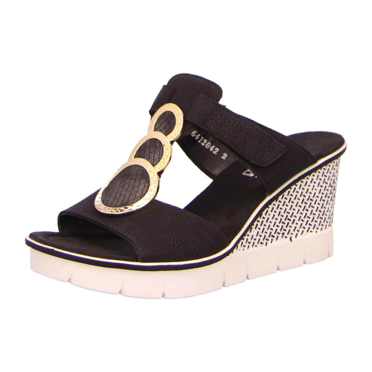 NEU: Rieker Sandaletten 68563 00 schwarz kombi   Shoes