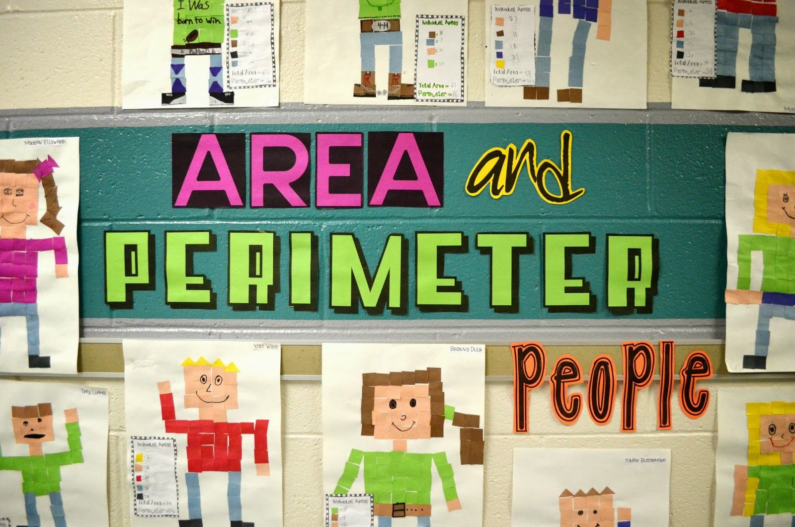 Area And Perimeter People This Is A 3rd Grade Classroom