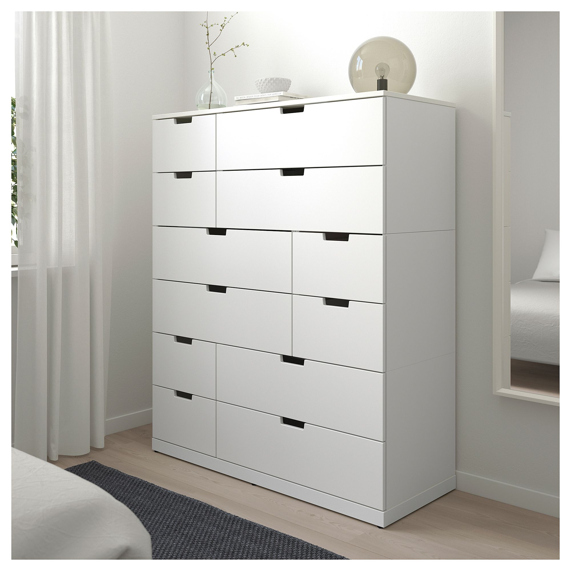 Nordli 12 Drawer Chest White 47 1 4x57 1 8 120x145 Cm
