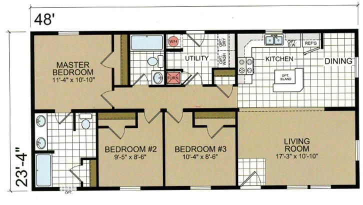 24 X 48 Homes Floor Plans Google Search House Plans Barndominium Floor Plans House Blueprints