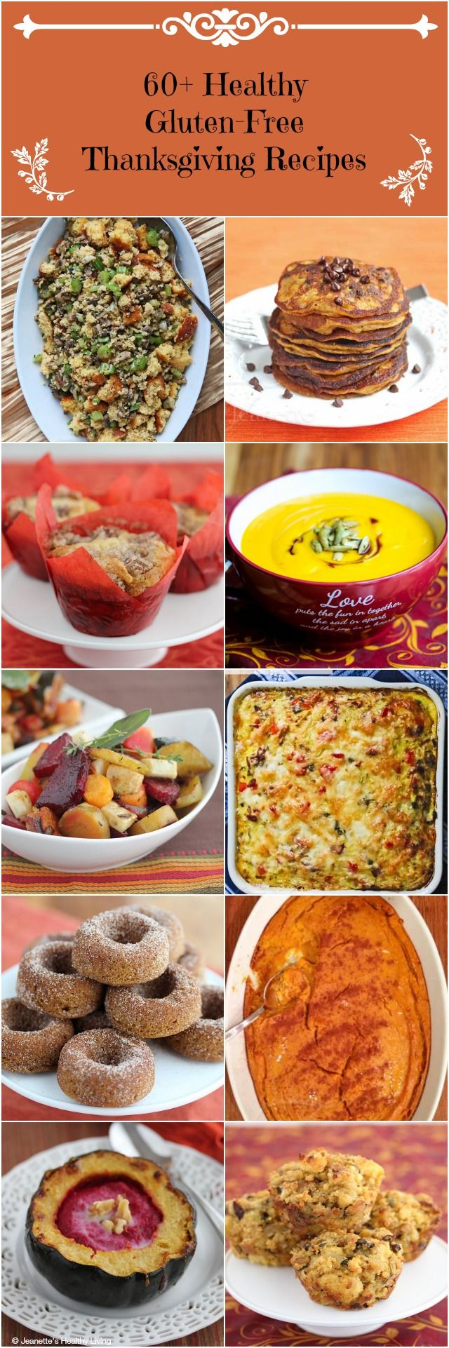 60 Healthy Gluten Free Thanksgiving Recipes - Pin this now and refer to it for planning your Thanksgiving and Holiday menus
