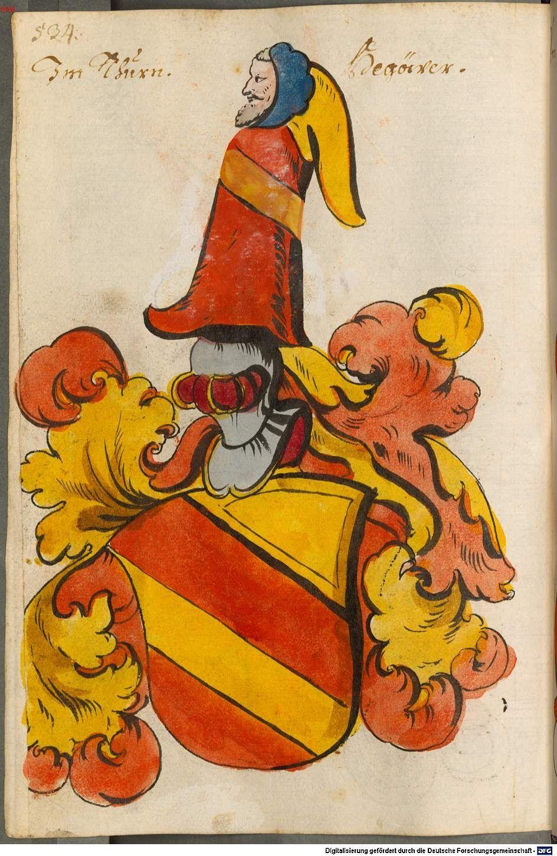 Scheibler'sches Wappenbuch Süddeutschland, um 1450 - 17. Jh. Cod.icon. 312 c Folio 534