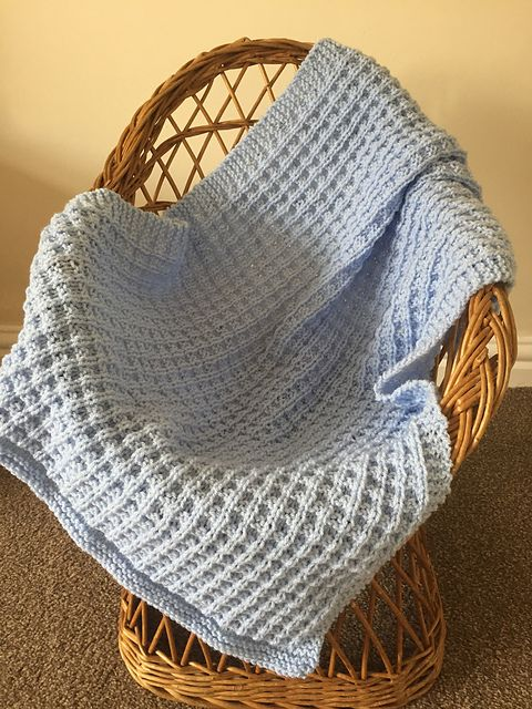 Simple Waffle Baby Blanket pattern by Loops and Lavender ...