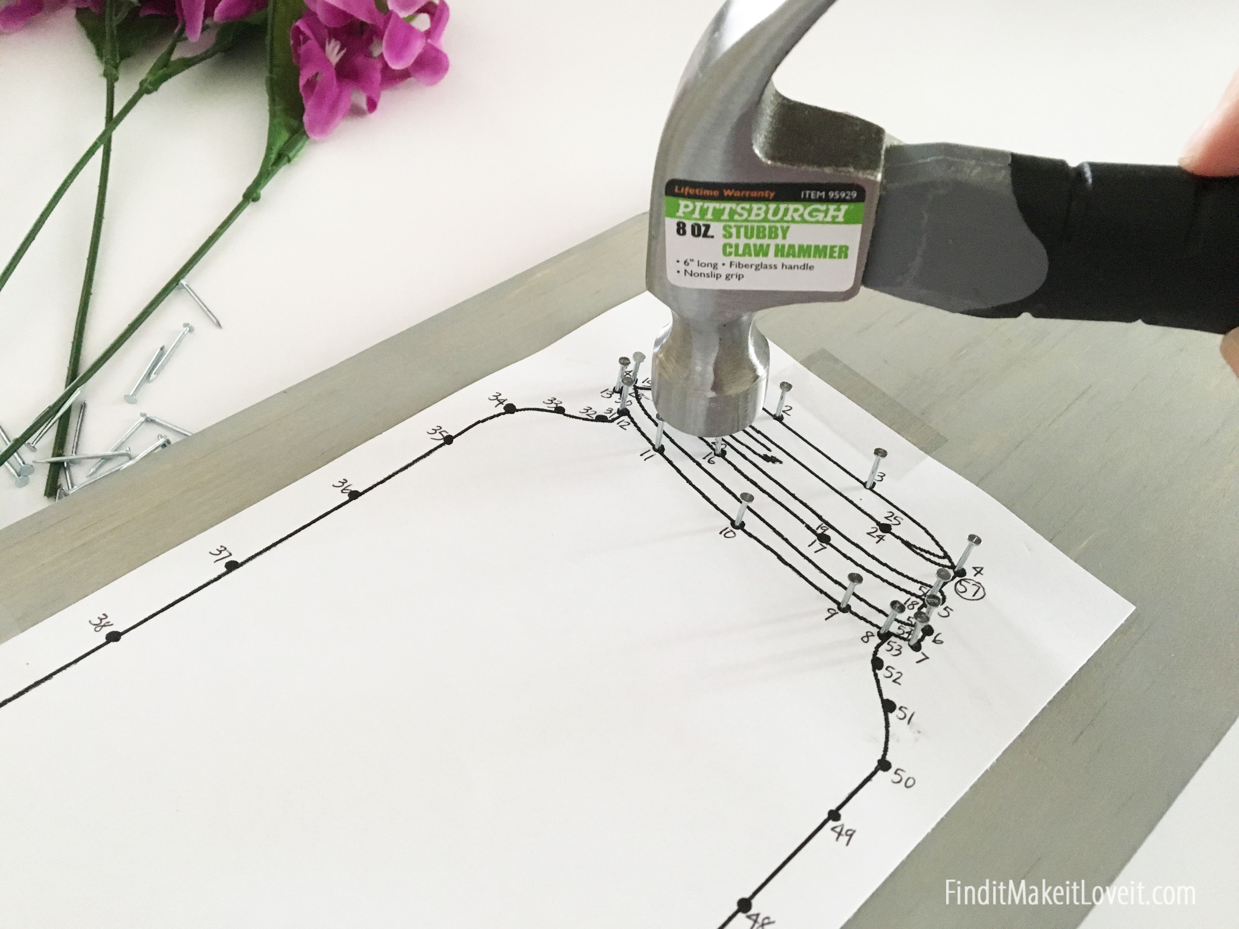 Free template to create a mason jar string art project. Fun and EASY ...