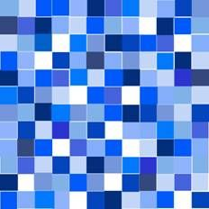 Blue Monochromatic Grid