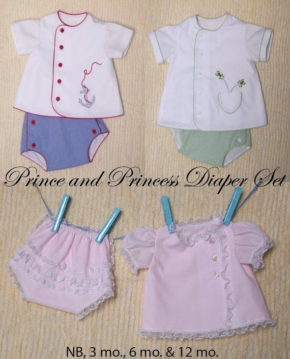 6959963cd9ef ... sweeter than to dress your prince or princess in this sweet diaper  set!!! This pattern includes sizes NB