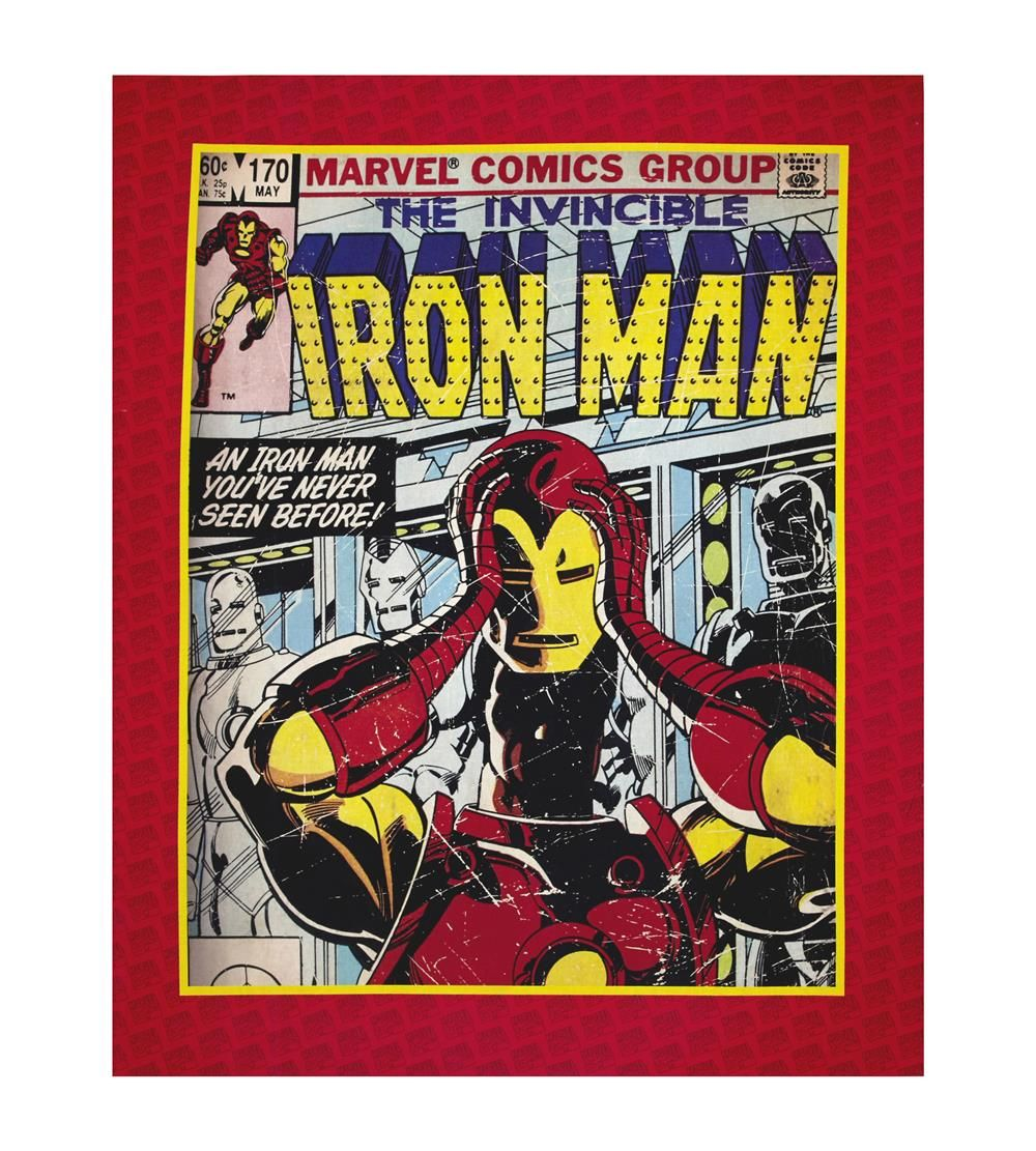 """FABRIC PANEL Camelot Cottons ~ INVINCIBLE IRON MAN ~ by Marvel Comics 36/"""" x 44/"""""""