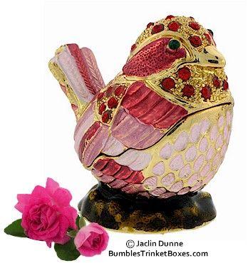 Trinket Box: Pink Bird