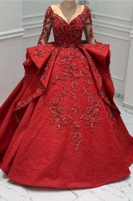 designer abendkleider lang rot  abiballkleider mit spitze armel in 2020  ball gowns ball