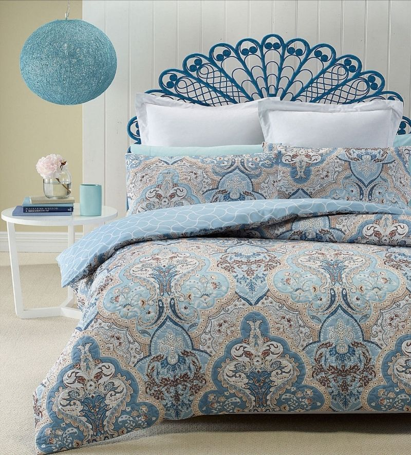Phase 2 Madras Blue Heat Pressed Quilted Quilt Doona Cover