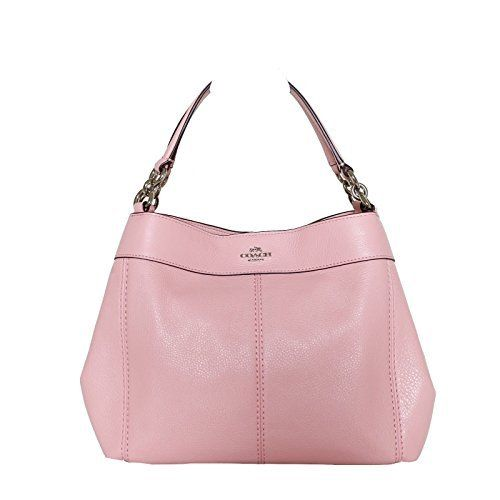 151.99 - Coach Pebbled Leather Small Lexy Shoulder Bag Handbag Refined  natural pebble leather One inside zippocket  one large multi-function slip  pocket ... 357ccc698a4ad