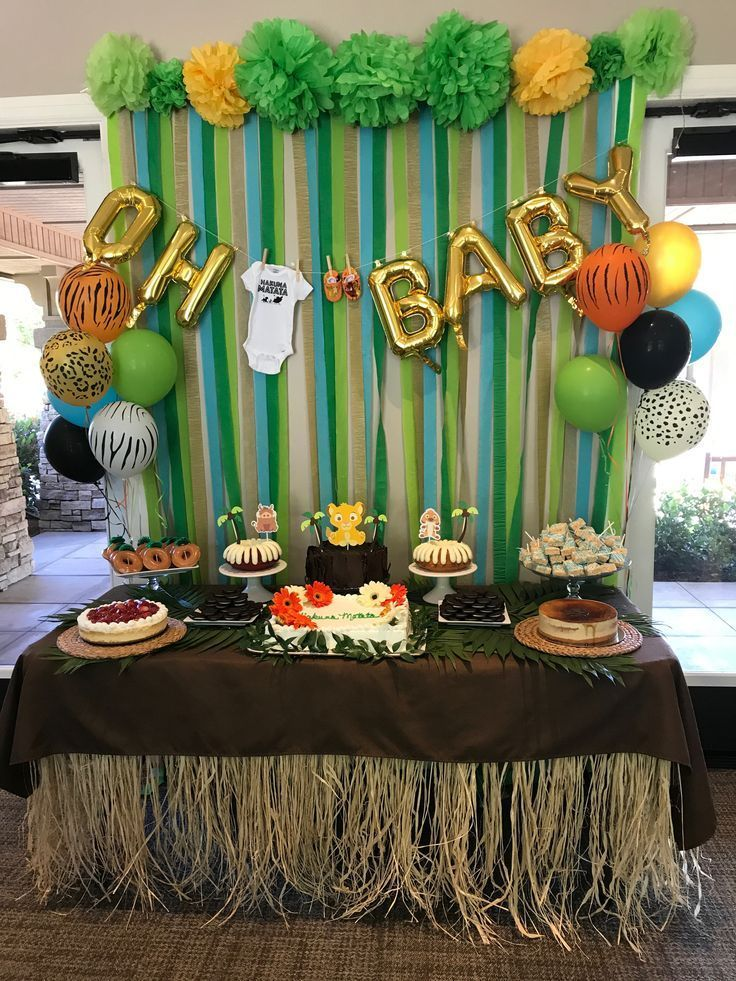 king of the jungle baby showers Baby Shower Ideas