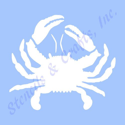 5 crab stencil template ocean mollusk stencils nautical pattern