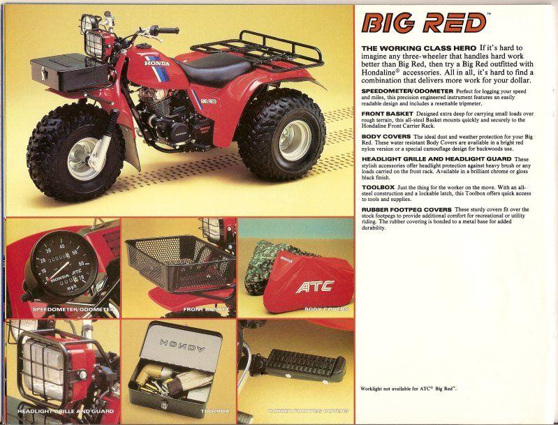 1984 Honda Atc200es Bigred With Hondaline Trailer Go Kart Frame Honda Go Kart
