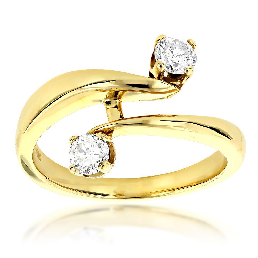 14K Gold Right Hand Ladies Diamond Ring 0.50ct | Diamond, Quality ...