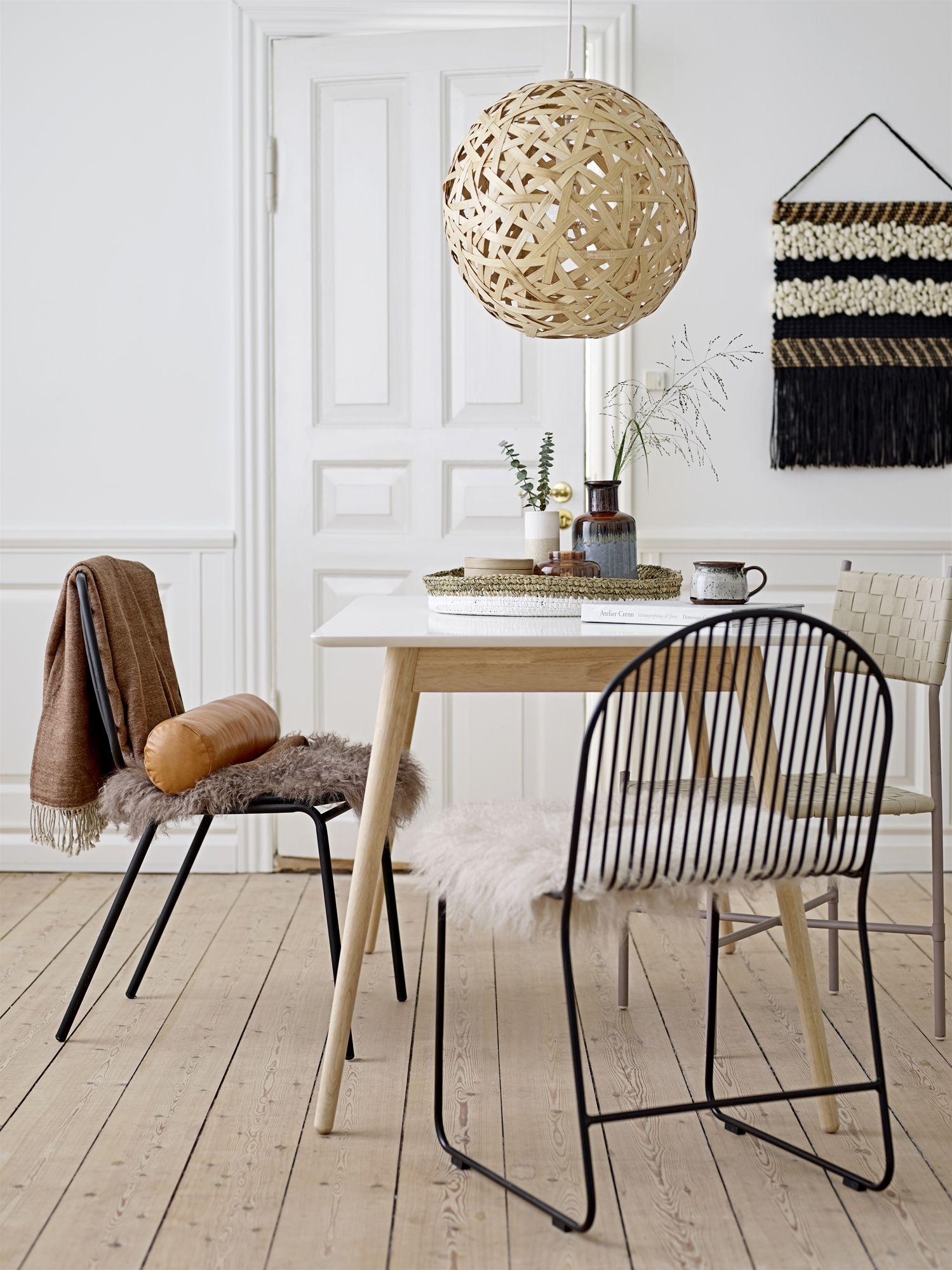 Stuhl Dining Chair FRIEND Metall schwarz Design Bloomingville