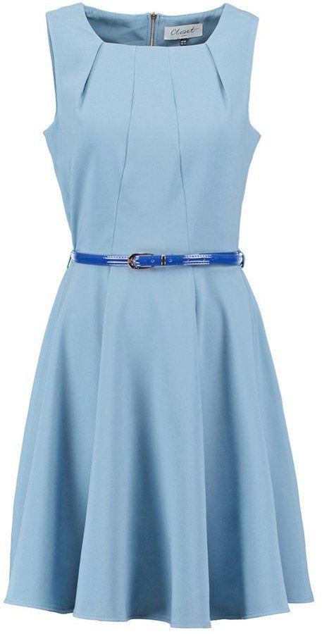 Pin for Later: Die 45 schönsten Kleider (& 5 coole Jumpsuits) für den besten Abiball aller Zeiten  Closet tailliertes Kleid in Hellblau (70 €)