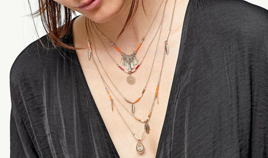 How to layer necklaces centime blog