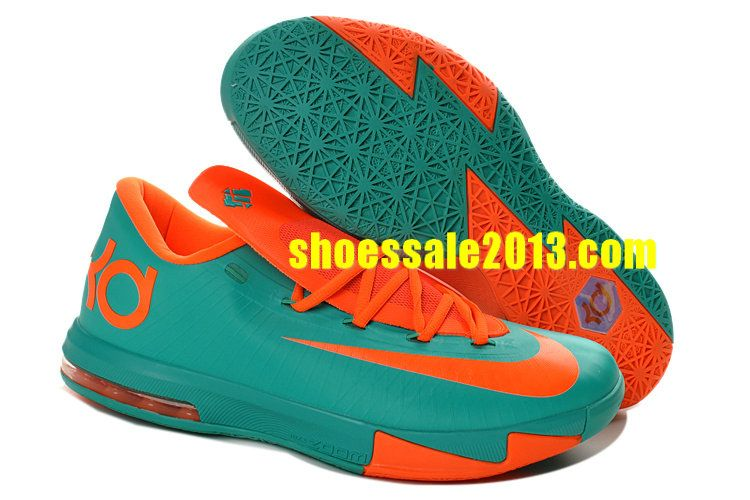 Shop Half Off Nike KD VI Tropical Twist Teal Orange Blue 599424 040 Cheap Kevin  Durant