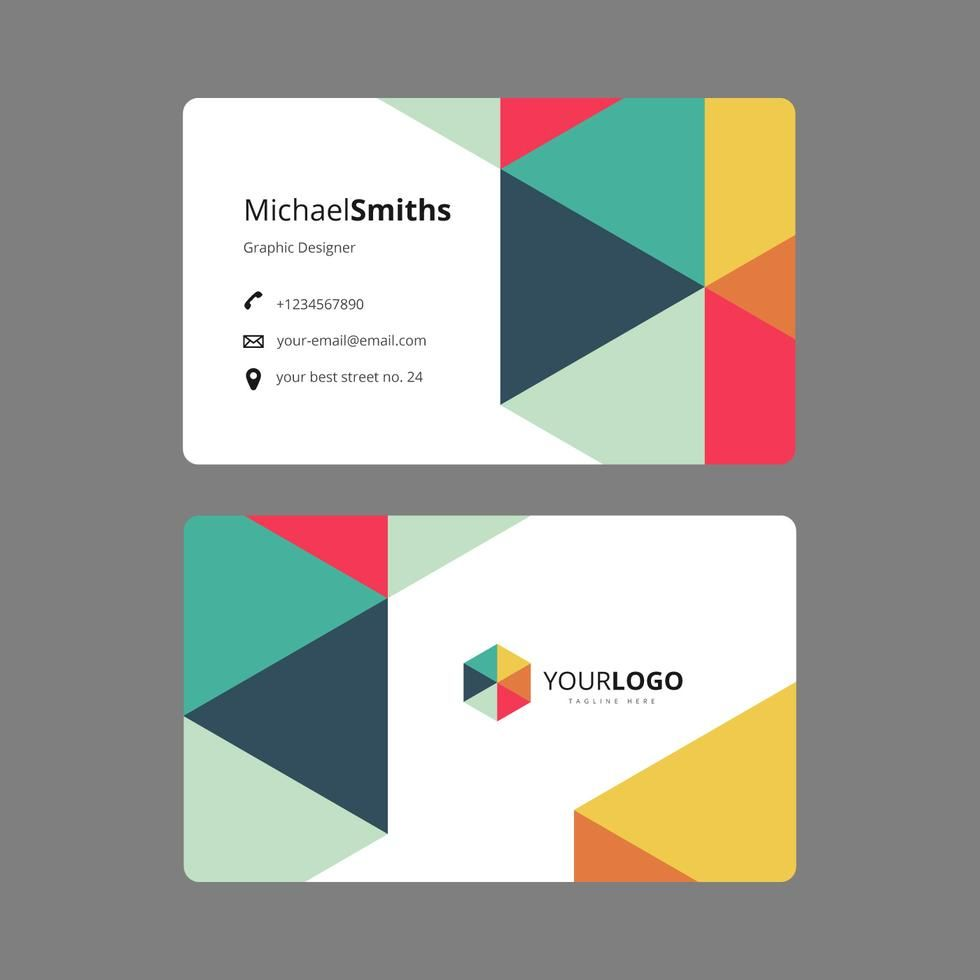 Graphic Design Business Card Template With Images Graphic