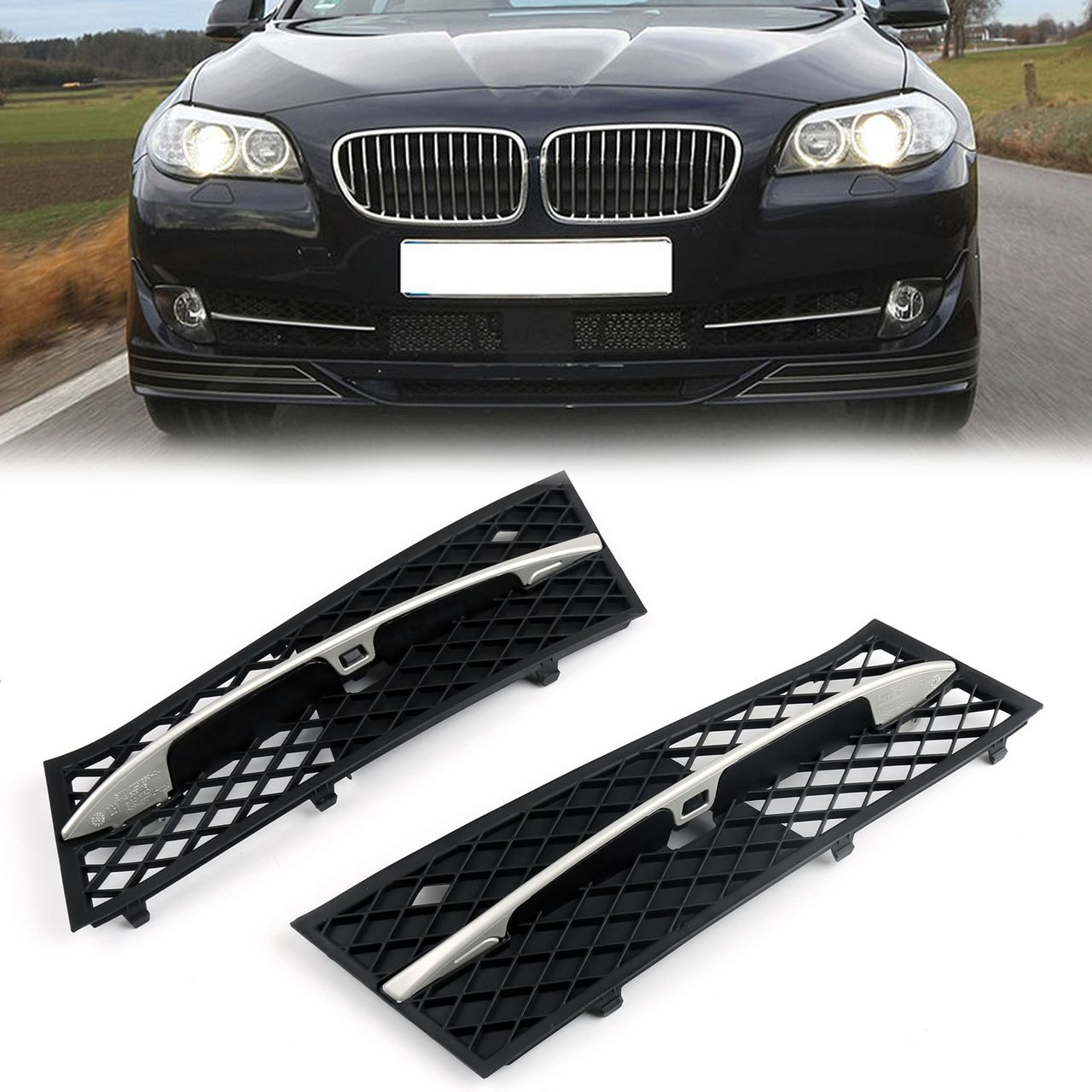 Mad Hornets Front Lower Bumper Face Bar Grille Set Bmw 5 Series
