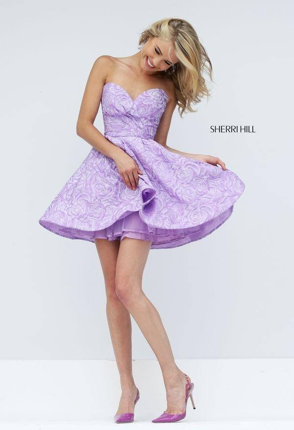 Sherri Hill 50131 | Vestidos lila morados cortos/ Short lilac purple ...