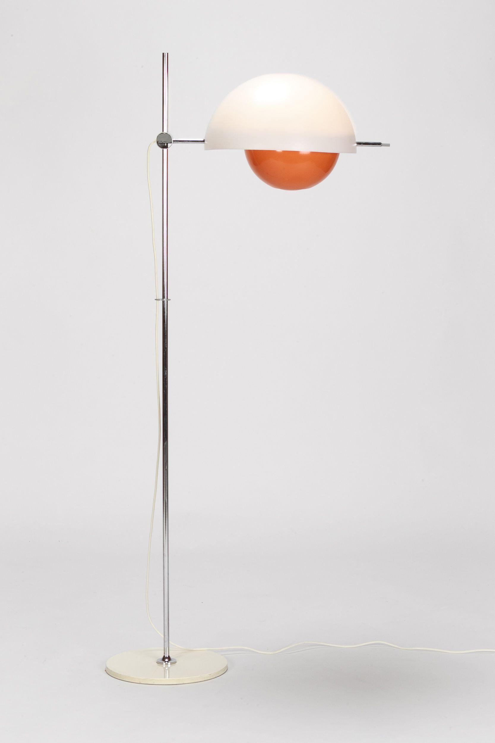 Baltensweiler Floor Lamp Type 300 Orange Orange Floor Lamps