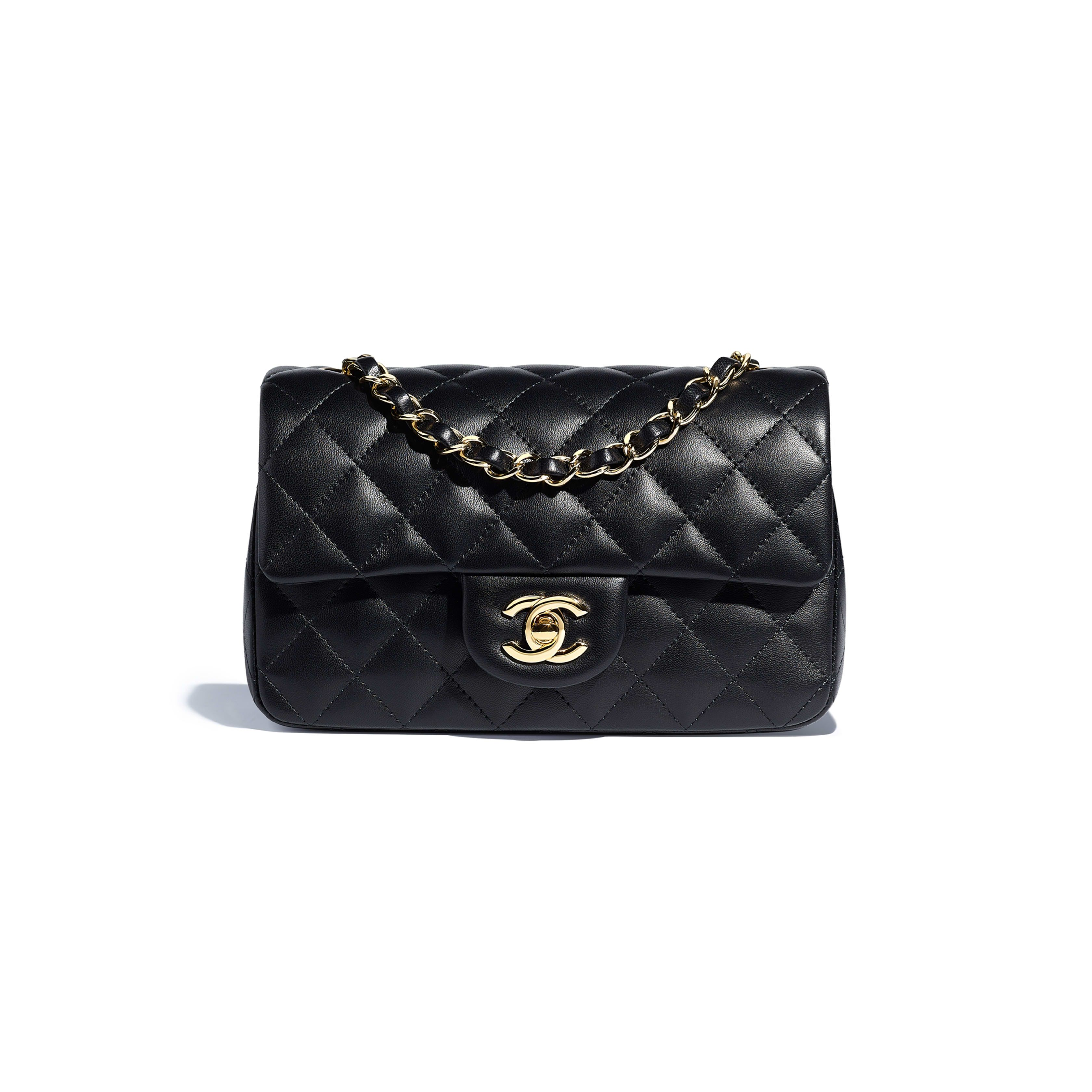 9948ce0ee6084 Mini Flap Bag - Black - Lambskin & Gold-Tone Metal - Default view - see  full sized version