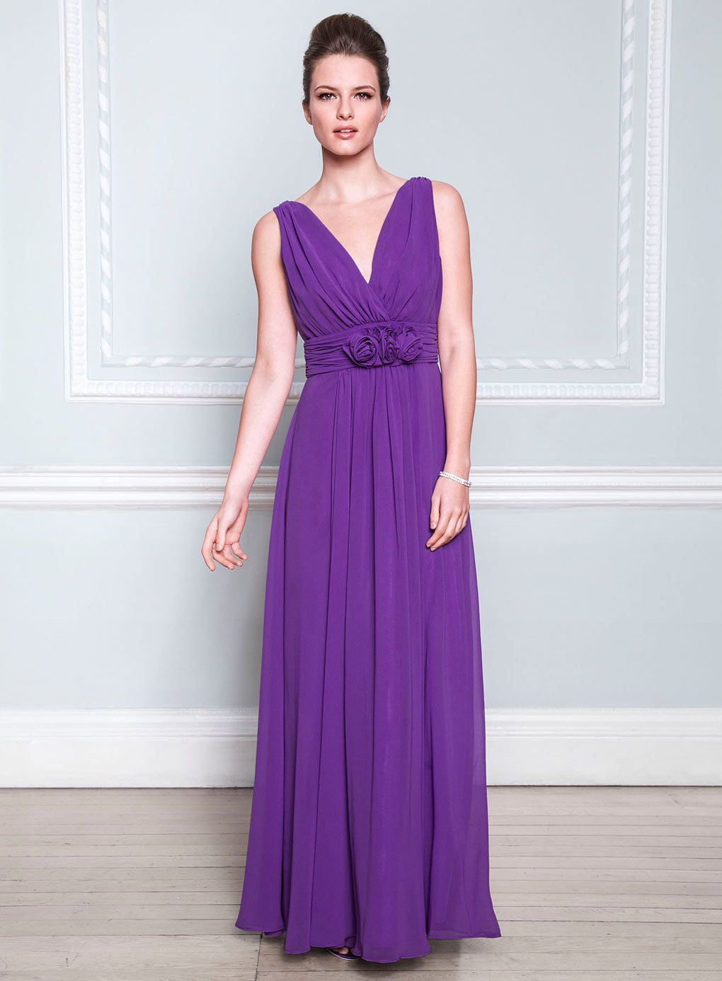 purple-floor-length-bridesmaid-dress-with-sleeves-1-1 | Purple ...