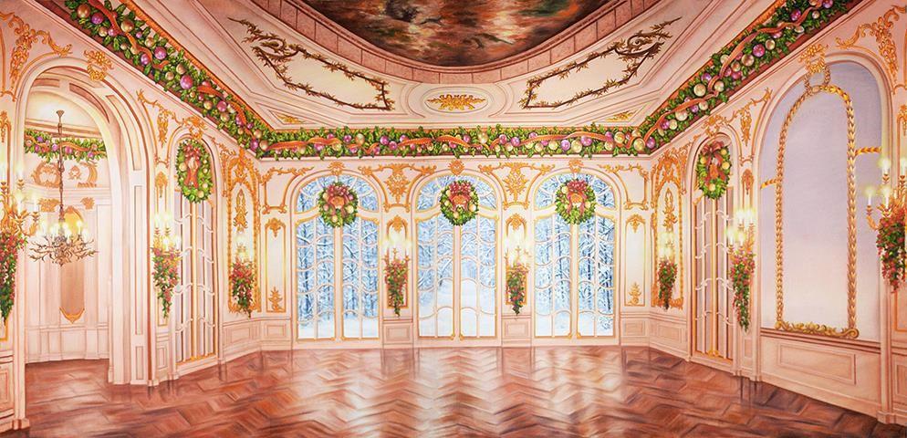 Garden Ballroom Christmas Professional Scenic Backdrop An