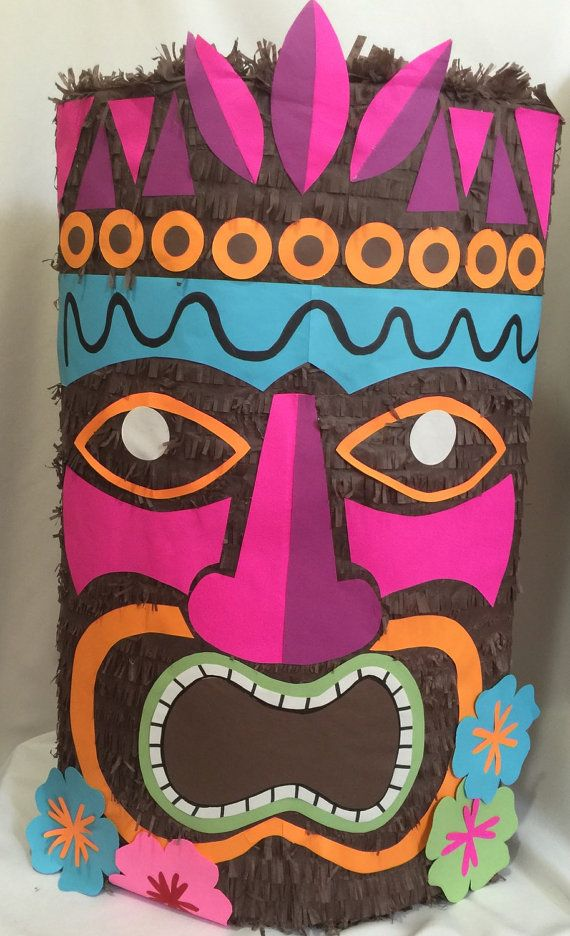 Large tiki pinata 24 tall fiesta hawaiana pi atas y for Tiki hawaiano