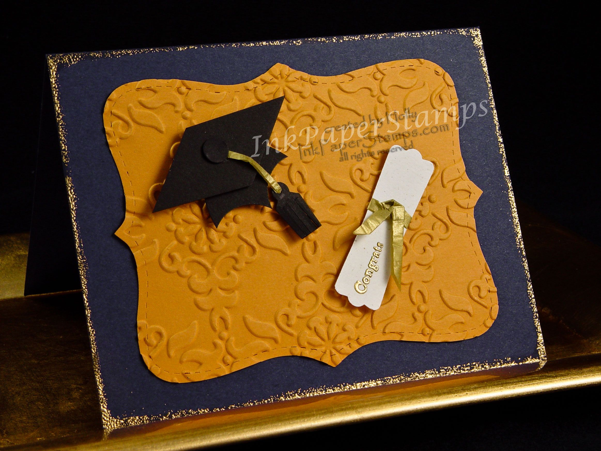 punch art | Punch Art Idea: Mortarboard & Diploma Card for the New Graduate