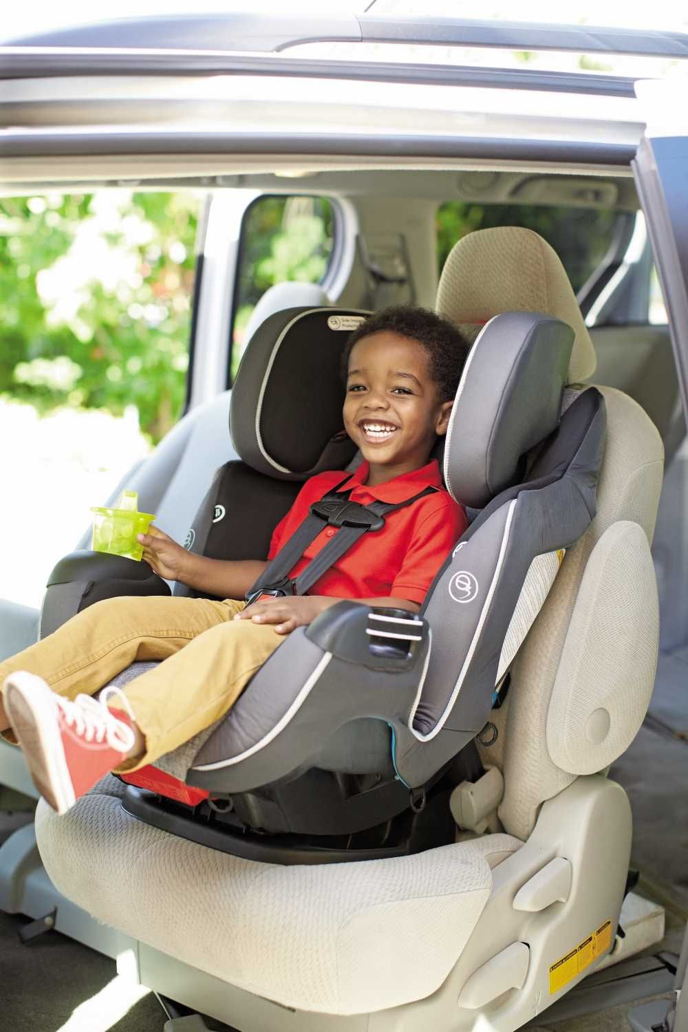 Our Exclusive Evenflo Symphony DLX Platinum All In One Car Seat Now Offers Parents Superior E3 Side Impact Protection To Keep Their Child Safe Alongside