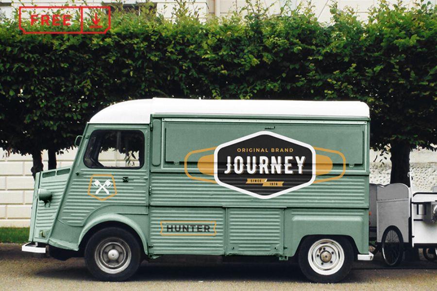 Free Food Truck Mockup Free Design Resources Food Truck Graphic Design Freebies Food Mockup