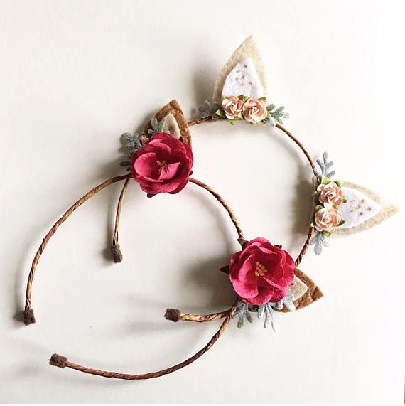 Fawn ears Headband Woodland deer headband Boho chic & Fawn ears Headband || Woodland deer headband || Boho chic headband ...
